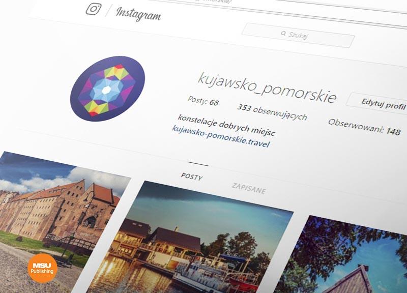 Kampania Kujawsko-Pomorskiej Organizacji Turystycznej na Instagramie