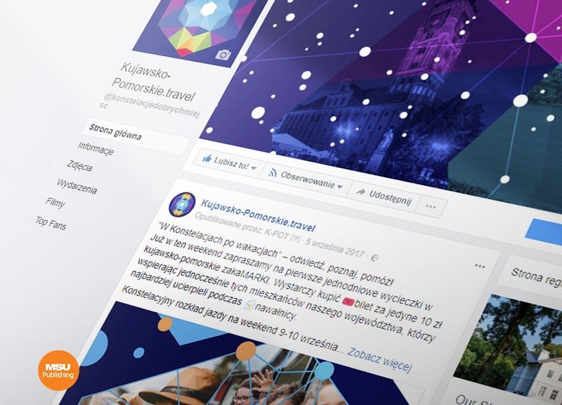 Kampania Kujawsko-Pomorskiej Organizacji Turystycznej na Facebook