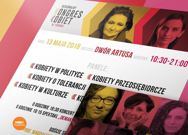 Program Regionalnego Kongresu Kobiet w Toruniu
