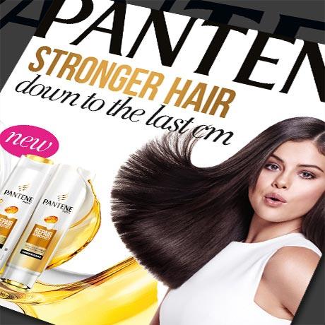 Materialy POS Pantene kampania z Selena Gomez