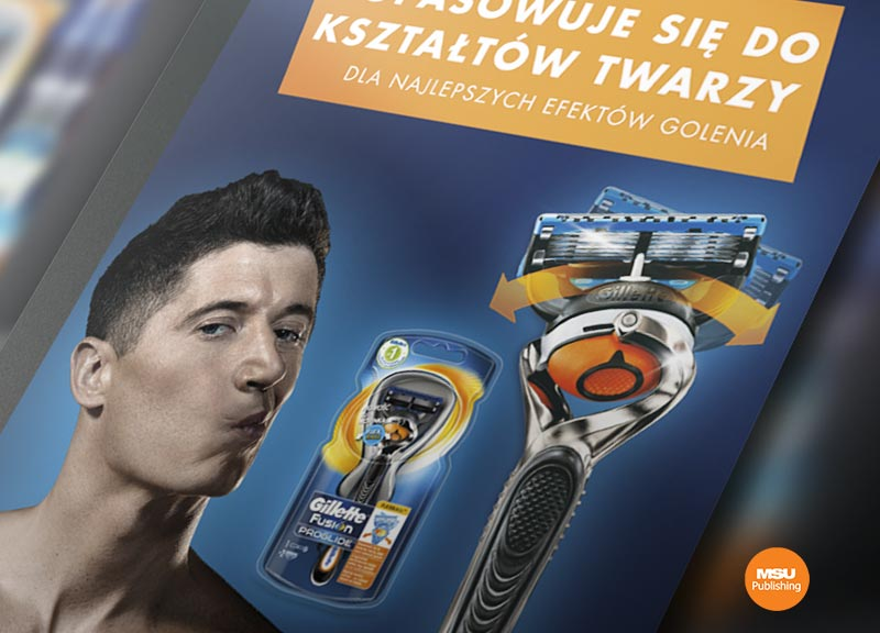 Materialy do kampanii Gillette