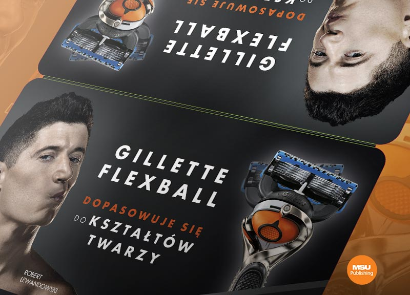 Materialy POS dla Gillette Robert Lewandowski
