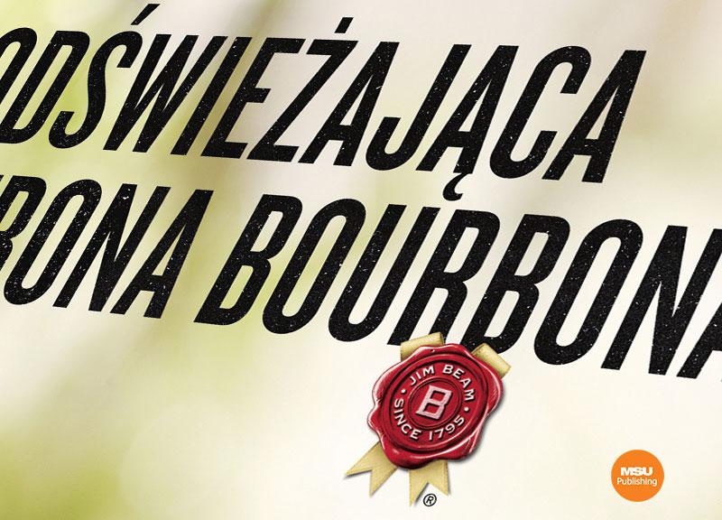 Kampania Orzezwiajaca strona bourbona dla Jim Beam