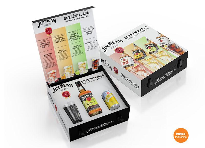Gift pack Jim Beam dla kampanii Orzezwiajaca strona bourbona