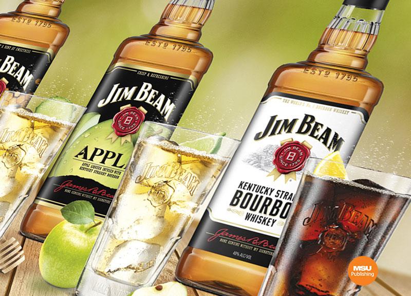 Kampania Jim Beam Orzezwiajaca strona bourbona